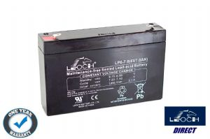 Leoch LP6-7.0 - 6volt 7ah Rechargeable Sealed Lead Acid Battery